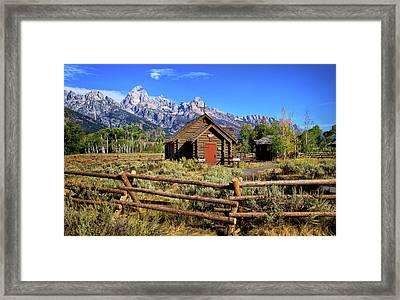 Grand Tetons Chapel Framed Print