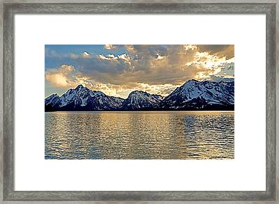 Grand Tetons From Jackson Lake Framed Print