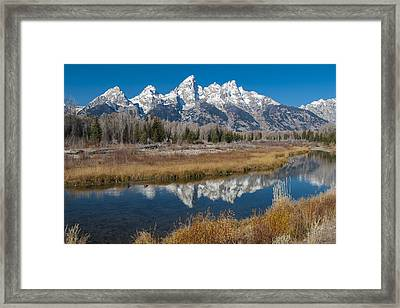 Framed Print featuring the photograph Grand Tetons by Gary Lengyel