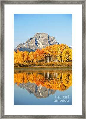 Grand Tetons In Autumn 2 Framed Print by Ron Dahlquist - Printscapes