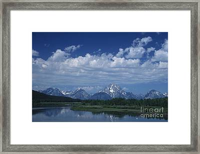 Grand Tetons In Spring Framed Print