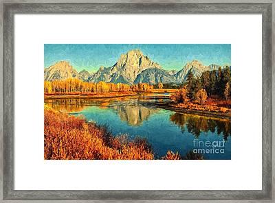 Grand Tetons Late Fall  Framed Print