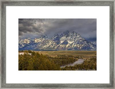 Grand Tetons Snake River Framed Print by Charles Warren
