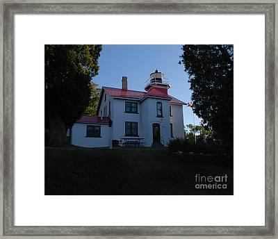 Grand Traverse Light House Framed Print