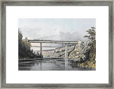 Grand Trunk Railway Of Canada  The Victoria Bridge Framed Print by S Russell