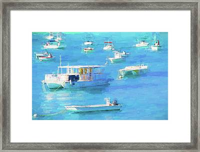 Grand Turk Island Boats Framed Print by Alice Gipson