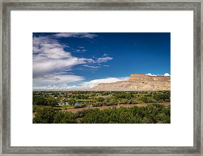 Grand Valley And Colorado River Framed Print by Teri Virbickis