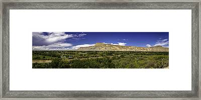 Grand Valley Panorama Framed Print by Teri Virbickis