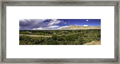 Grand Valley Panoramic Framed Print by Teri Virbickis