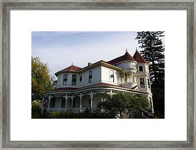 Grand Victorian Mansion  Framed Print by Jeff Lowe