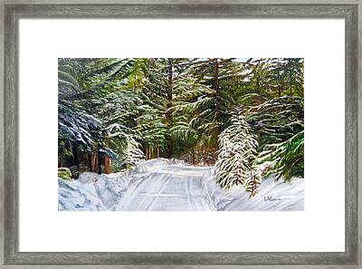 Grand View Drive Framed Print by LaVonne Hand