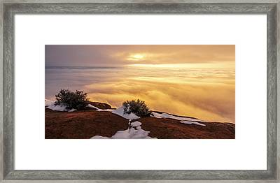 Grand View Glow Framed Print