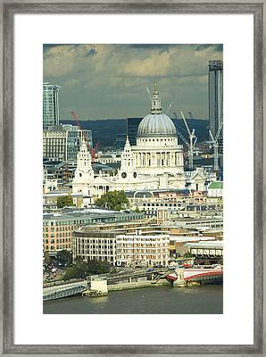 Grand View Of Central London Framed Print by Charles  Ridgway