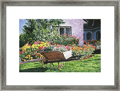 Grandad's Wheelbarrow Framed Print by David Lloyd Glover