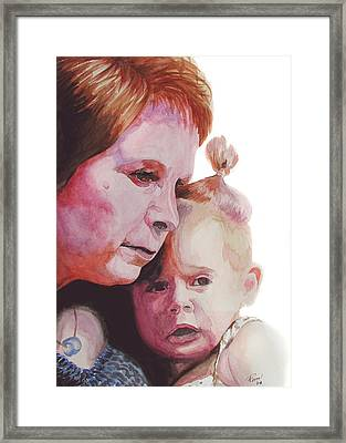 Grandchild Framed Print by Ferrel Cordle