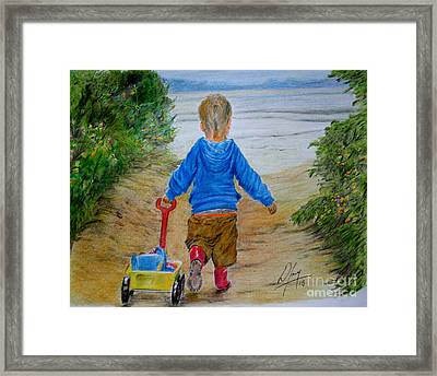 Granddad Time Framed Print by William Young