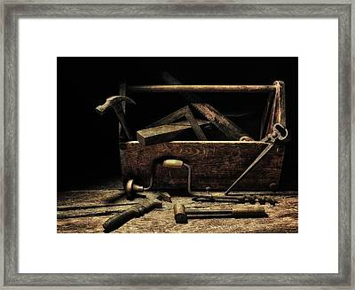 Framed Print featuring the photograph Granddad's Tools by Mark Fuller