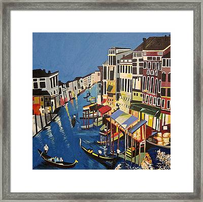Framed Print featuring the painting Grande Canal by Donna Blossom
