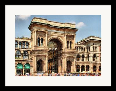 Italian Shopping Digital Art Framed Prints