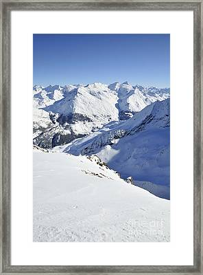 Grande Sassiere And Petite Sassiere Framed Print by Andy Smy