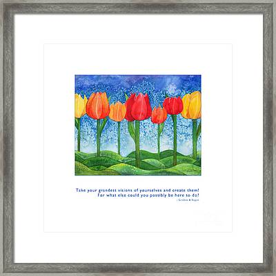 Framed Print featuring the painting Grandest Visions by Kristen Fox