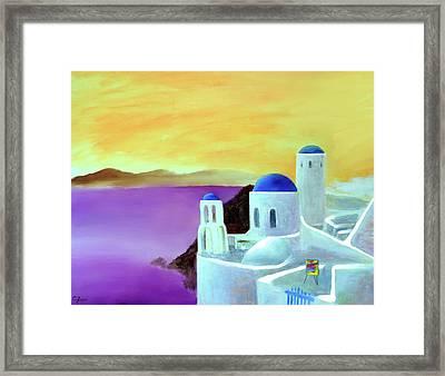 Grandeur Of Greece Framed Print