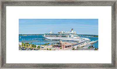 Grandeur Of The Seas At Portland Framed Print by Tim Sullivan