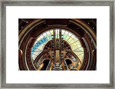 Grandeur Of The Seas Gold Centrum Framed Print