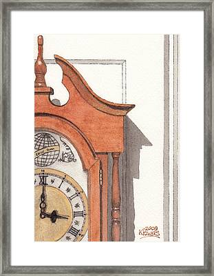 Grandfather Clock Framed Print by Ken Powers