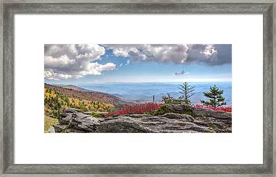 Grandfather Mountain Panorama 02 Framed Print