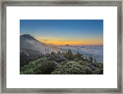 Grandfather Mountain Sunrise Framed Print