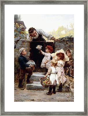 Grandfather's Birthday Framed Print by Frederick Morgan