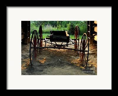 1800s.farm Framed Prints