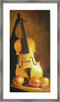 Grandfathers Fiddle Framed Print