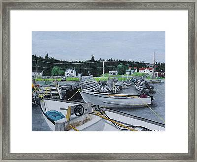 Grandfathers Wharf Framed Print