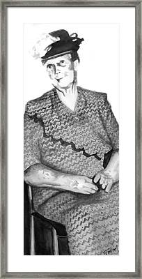 Grandma Framed Print by Ferrel Cordle