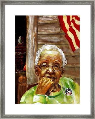 Grandma For Obama Framed Print