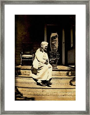 Framed Print featuring the photograph Grandma Jennie by Paul W Faust - Impressions of Light