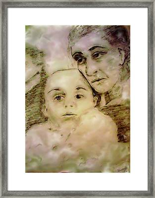 Framed Print featuring the drawing Grandmas Baby by Shelley Bain
