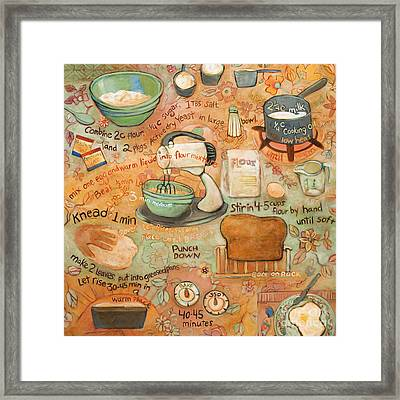 Grandmas Bread Recipe Framed Print by Jen Norton