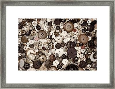 Grandmas Buttons Framed Print by Scott Norris