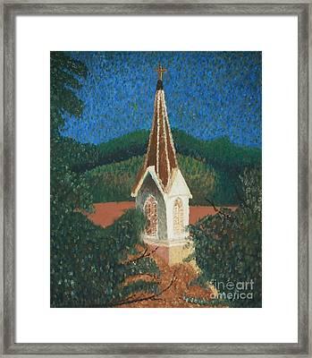 Grandmas Church Framed Print by Jacqueline Athmann