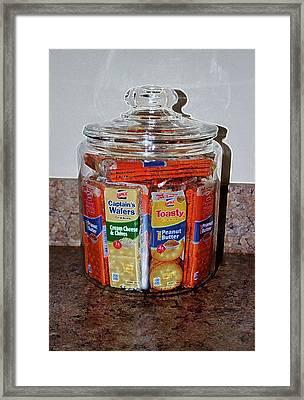 Grandma's Cracker Jar Framed Print