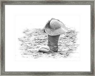 Framed Print featuring the photograph Grandma's Hat by Kerri Ligatich