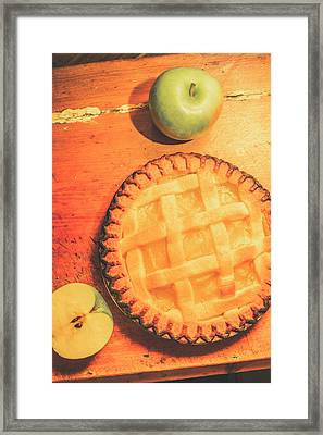Grandmas Homemade Apple Tart Framed Print