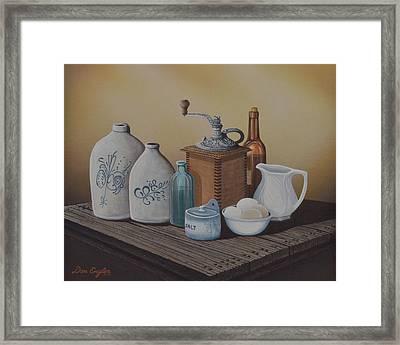 Grandma's Jars Framed Print by Don Engler