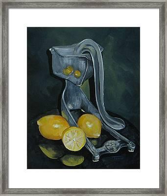 Grandma's Lemons Framed Print
