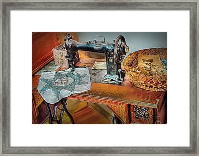 Grandma's Sewing Machine Framed Print