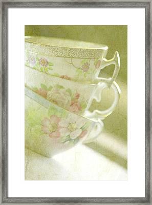 Grandma's Teacups Framed Print