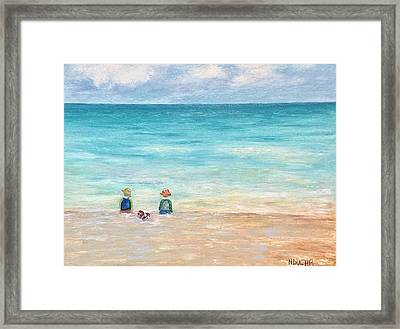 Framed Print featuring the painting Grandmas View by Norma Duch